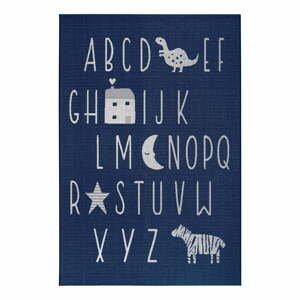 Modrý detský koberec Ragami Letters, 80 x 150 cm