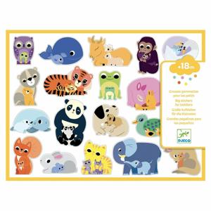Samolepky pre najmenších so zvieratkami Djeco