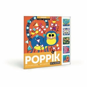 Kreatívne samolepkové karty Poppik Zvieratká