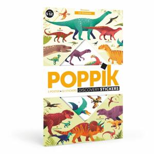 Vzdelávací samolepkový plagát Poppik Dinosaury