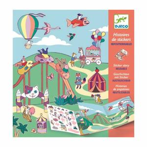 Príbeh s premiestniteľnými samolepkami Djeco Zábavný park