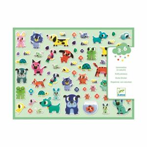Set plastických samolepiek Djeco Zvierací kamaráti