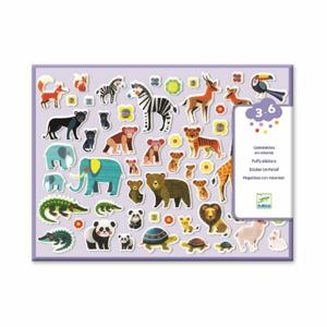 Set plastických samolepiek Djeco Zvieracie rodinky