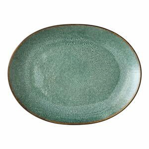 Zelený kameninový servírovací tanier Bitz Mensa, 30 x 22,5 cm