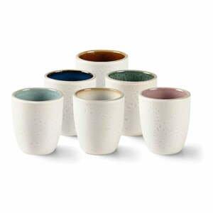 Súprava 4 béžových kameninových hrnčekov na espresso Bitz Stentøj, 100 ml