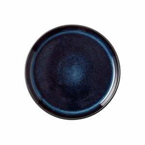 Tmavomodrý kameninový tanier Bitz Mensa, ø 17 cm
