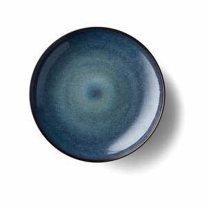 Čierno-modrá kameninová servírovacia misa Bitz Stentøj, ø 40 cm