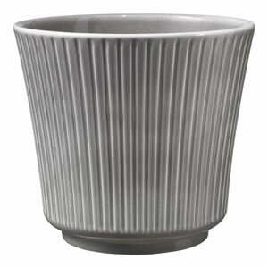 Sivý keramický kvetináč Big pots Gloss, ø 16 cm