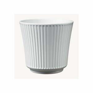 Biely keramický kvetináč Big pots Gloss, ø 16 cm