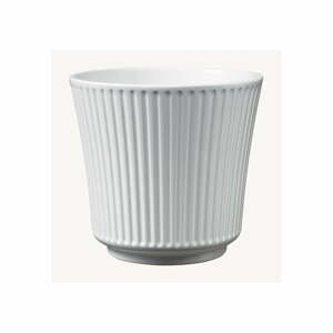 Biely keramický kvetináč Big pots Gloss, ø 20 cm
