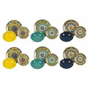 18-dielna súprava tanierov z porcelánu a kameniny Villa'd Este Scilla