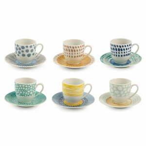 12-dielna súprava porcelánových šálok na espresso Villa d'Este Marea