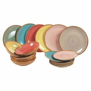 18-dielna súprava kameninových tanierov Villa d'Este Siena