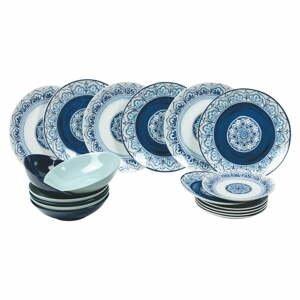 18-dielna súprava tanierov z porcelánu a kameniny Villa d'Este Maiori