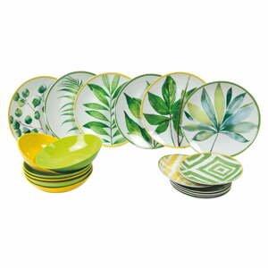 18-dielna súprava tanierov z porcelánu a kameniny Villa d'Este Oriental Botanique