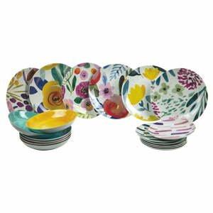 18-dielna súprava tanierov z porcelánu a kameniny Villa d'Este Arte