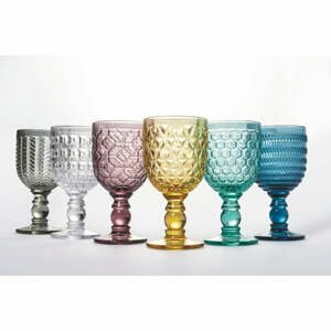 Súprava 6 farebných pohárov na víno Villa d'Este Geometrie
