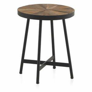 Odkladací stolík s čiernou železnou konštrukciou Geese sunrays