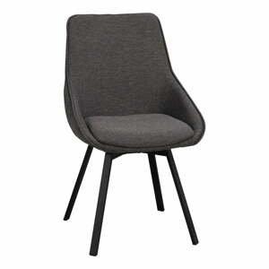 Sivá otočná kancelárska stolička Rowico Alison