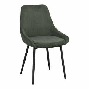 Zelená menčestrová jedálenská stolička Rowico Sierra