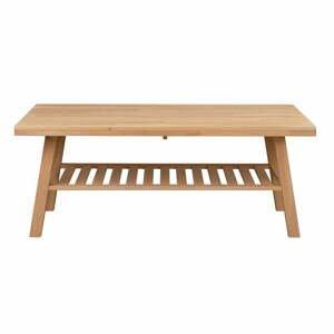 Konferenčný stolík z brúseného dubového dreva Rowico Brooklyn, 130 x 75 cm