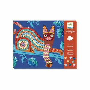 Metalická mozaika Djeco Mačka