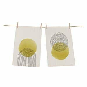 Súprava 2 bavlnených kuchynských utierok Butter Kings Rising Sun, 70 x 50 cm