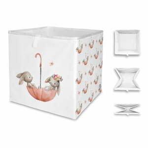 Detský úložný box Mr. Little Fox Bunnies In The Rain