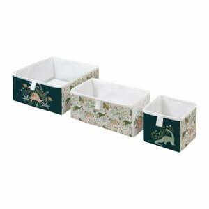 Súprava 3 detských úložných boxov Mr. Little Fox Friendly Dinosaurs