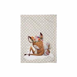 Detská prikrývka Mr. Little Fox Doe and Her Friend, 100 x 70 cm