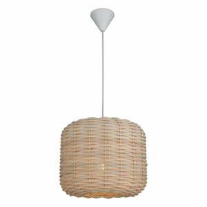 Závesné svietidlo s bambusovým tienidlom Homemania Decor Bamboo, ø 30 cm