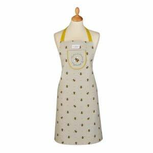 Béžovo-žltá bavlnená zástera Cooksmart ® Bumble Bees