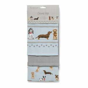Súprava 3 kuchynských utierok Cooksmart ® Curious Dogs