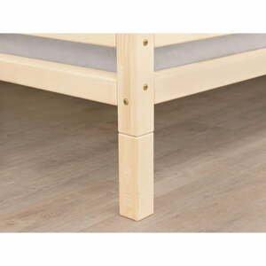 Súprava 4 predĺžených drevených nôh k posteli s matnou lazúrou Benlemi, výška 20 cm