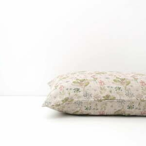 Detská béžová ľanová obliečka na vankúš Linen Tales Botany, 40 x 45 cm