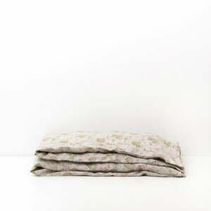 Detské béžové ľanové obliečky Linen Tales Botany, 70 x 100 cm