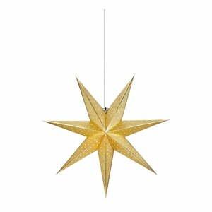 Vianočná závesná dekorácia v zlatej farbe Markslöjd Glitter, dĺžka 75 cm