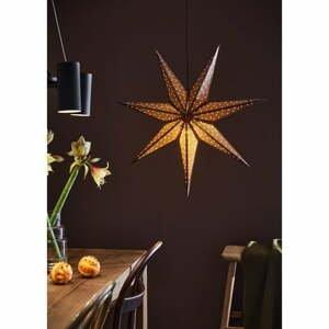 Hnedá vianočná závesná svetelná dekorácia Markslöjd Glitter, dĺžka 75 cm