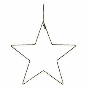 Čierna vianočná závesná svetelná dekorácia Markslöjd Alpha Star, výška 45 cm