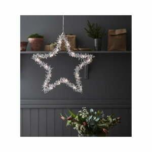 Vianočná závesná svetelná dekorácia Markslöjd Tangle Star, výška 45 cm