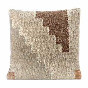Obliečka na vankúš z bavlny a vlny Nkuku Harti Block, 50 x 50 cm