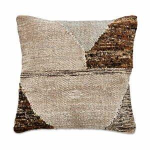 Obliečka na vankúš z bavlny a vlny Nkuku Harti Triangle, 50 x 50 cm