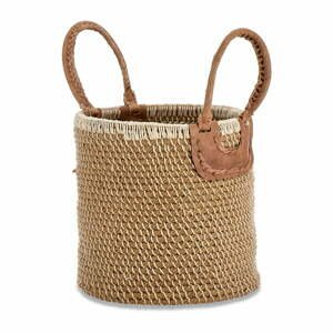 Úložný košík z morskej trávy Nkuku Indra, ø 31 cm