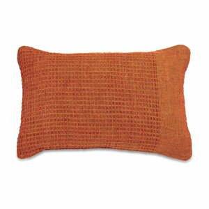 Oranžová ľanová obliečka na vankúš Nkuku Kadin, 60 x 40 cm