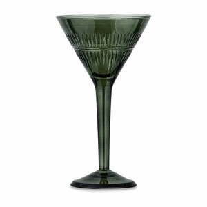 Súprava 4 zelených koktejlových pohárov z recyklovaného skla Nkuku Mila