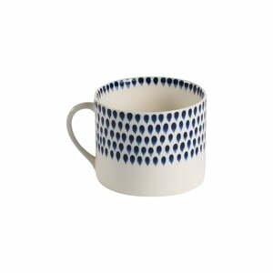 Súprava 2 modro-bielych kameninových hrnčekov Nkuku Indigo