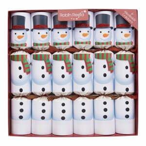 Súprava 6 vianočných crackerov Robin Reed Racing Snowman