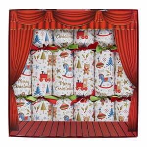 Súprava 6 vianočných crackerov Robin Reed Toy Town