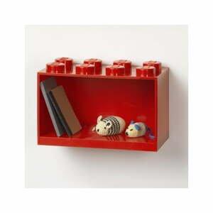 Detská červená nástenná polica LEGO® Brick 8