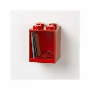Detská červená nástenná polica LEGO® Brick 4